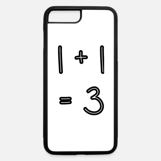 Birthday iPhone Cases - 1+1=3 - one plus one - baby - parents - birth - iPhone 7 & 8 Plus Case white/black
