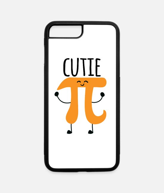 Cute iPhone Cases - Cutie Pi - iPhone 7 & 8 Plus Case white/black