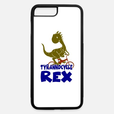 Awesome T-Rex Dinosaur on a Bicycle Tyrannocycle Rex - iPhone 7 & 8 Plus Case