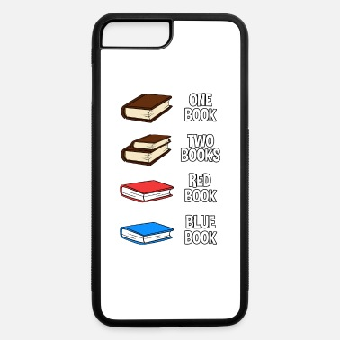Book One Book Two Books Red Book Blue Book - iPhone 7 & 8 Plus Case
