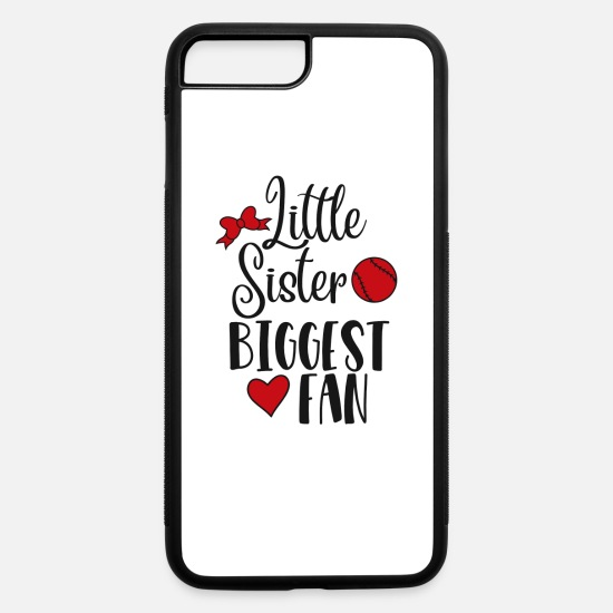 Sister iPhone Cases - FUNNY COOL CUTE BASEBALL product - LITTLE SISTER - iPhone 7 & 8 Plus Case white/black