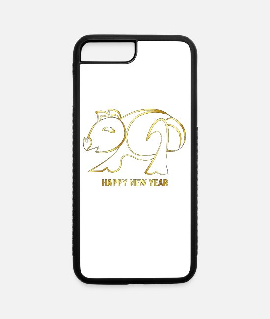 New Year's Wishes iPhone Cases - New Year, New Year's Eve Party Geschek, New Year - iPhone 7 & 8 Plus Case white/black