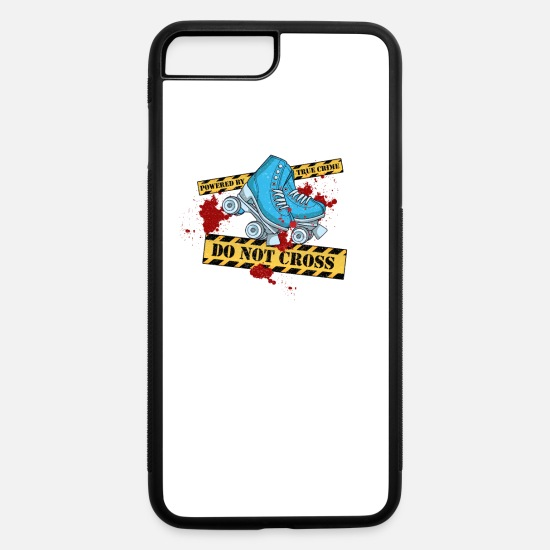 Roller Skates iPhone Cases - True Crime & Roller Derby - Crime Scene - Do Not - iPhone 7 & 8 Plus Case white/black
