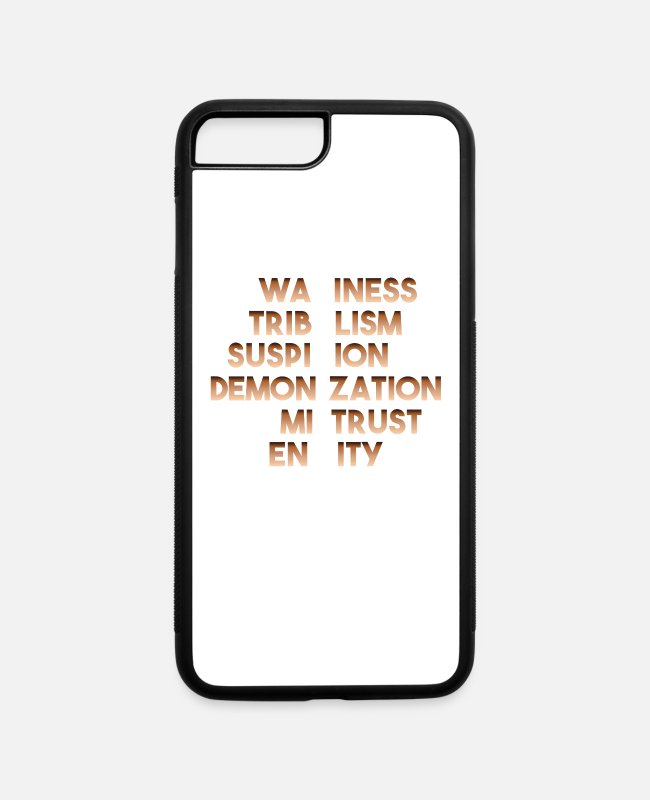 Anti-semitic iPhone Cases - RACISM Awareness - iPhone 7 & 8 Plus Case white/black