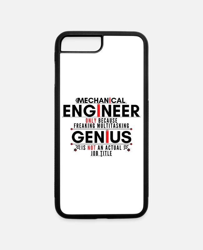 Occupation iPhone Cases - Freaking Multitasking Mechanical Genius - iPhone 7 & 8 Plus Case white/black