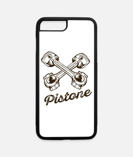 Cool Art iPhone Cases - Pistone inscription cool tatoo - iPhone 7 & 8 Plus Case white/black