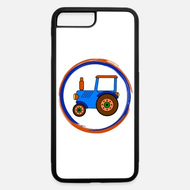 Toy blue toy tractor / toy tractor - iPhone 7 Plus/8 Plus Rubber Case