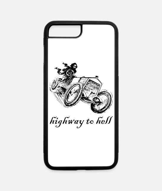 Automobile iPhone Cases - Highway to hell - iPhone 7 & 8 Plus Case white/black