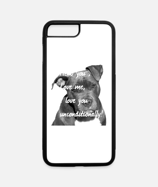 Head iPhone Cases - Stafford,Terrier,Dog,Dog Lovers,Dogs,Dog head, - iPhone 7 & 8 Plus Case white/black