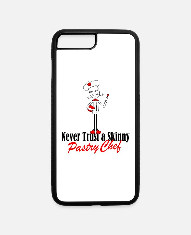 Never Trust iPhone Cases - pastry chef - iPhone 7 & 8 Plus Case white/black