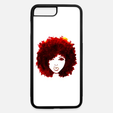 Red Autumn Attitude Natural hair Afro - iPhone 7 & 8 Plus Case