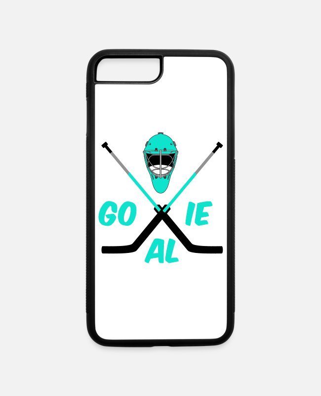 Goal iPhone Cases - Ice hockey Goalie turquoise - iPhone 7 & 8 Plus Case white/black