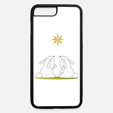Asterisk two rabbits discover a carrot star - iPhone 7 & 8 Plus Case