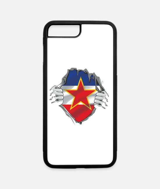 Nostalgic iPhone Cases - Yugoslavia Jugo nostalgic design - iPhone 7 & 8 Plus Case white/black