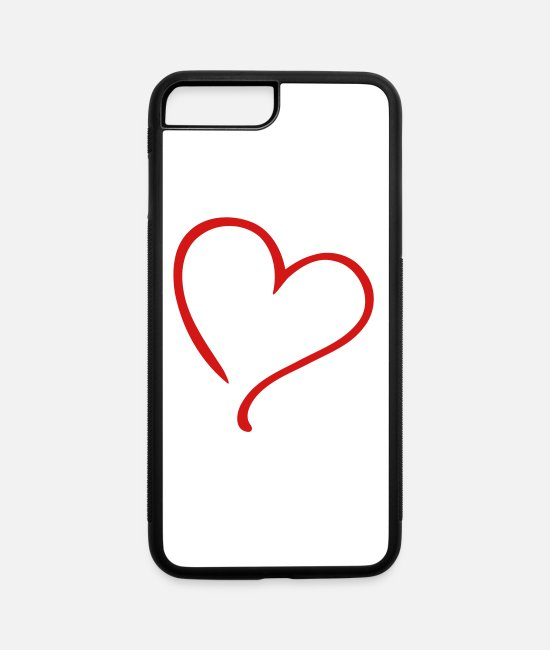 Heart iPhone Cases - Heart Love - iPhone 7 & 8 Plus Case white/black