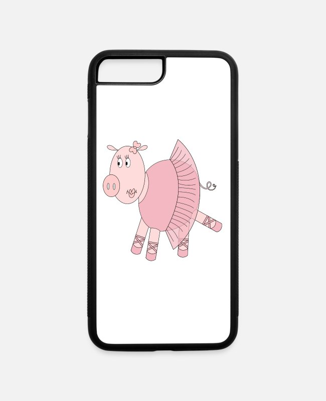 Hog iPhone Cases - Ballerina Pig - iPhone 7 & 8 Plus Case white/black