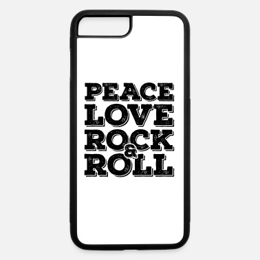 Typo Collection Rock N Roll Inspirational Message Black Cool Gift - iPhone 7 & 8 Plus Case