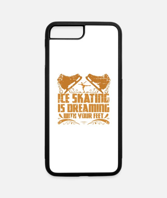 Winter iPhone Cases - Ice Skating Winter Sport Gift - iPhone 7 & 8 Plus Case white/black