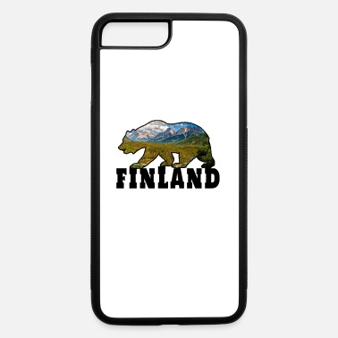 Scandinavia Finland Bear with Landscape Gift Scandinavia - iPhone 7 Plus/8 Plus Rubber Case