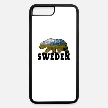Scandinavia Sweden Bear with Mountains / Gift Scandinavia - iPhone 7 Plus/8 Plus Rubber Case