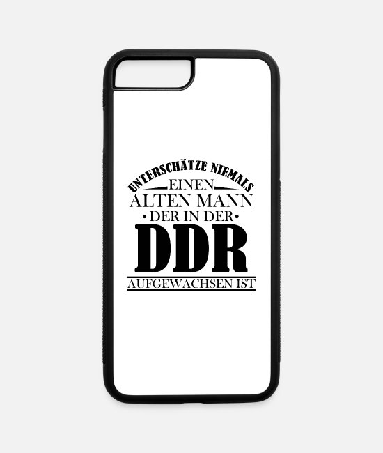 Fall Of The iPhone Cases - Old man GDR grew up Ossi Ostalgie East German - iPhone 7 & 8 Plus Case white/black