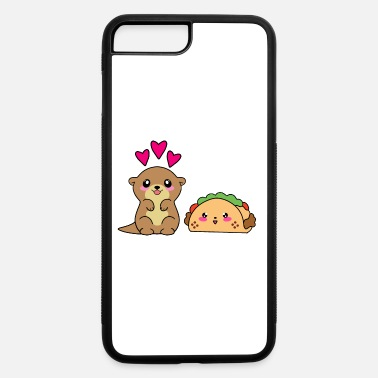 Hungry Cute funny baby otter, kawaii burrito. Taco lover. - iPhone 7 & 8 Plus Case