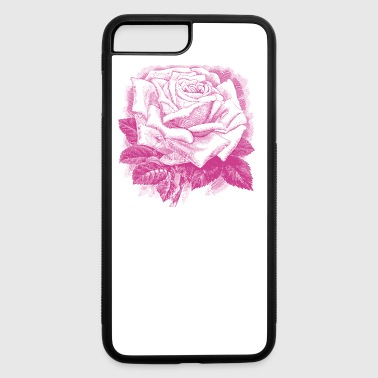 rose vintage skatch - iPhone 7 Plus/8 Plus Rubber Case
