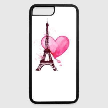 Eiffel Tower and heart - iPhone 7 Plus/8 Plus Rubber Case