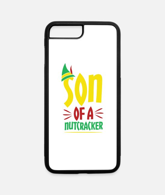 Christmas iPhone Cases - Son Of A Nutcracker Awesome Christmas - iPhone 7 & 8 Plus Case white/black