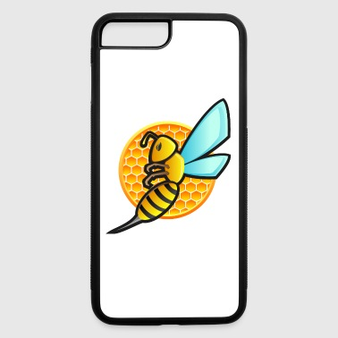 Hornet wasp insect honeycomb vector logo emblem - iPhone 7 Plus/8 Plus Rubber Case