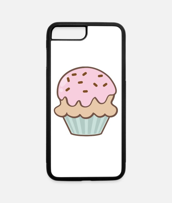 Cookie iPhone Cases - Cupcake - iPhone 7 & 8 Plus Case white/black