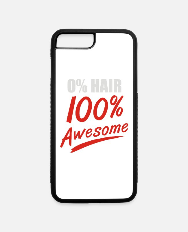 Movie iPhone Cases - Zero Hair 100 Awesome - iPhone 7 & 8 Plus Case white/black