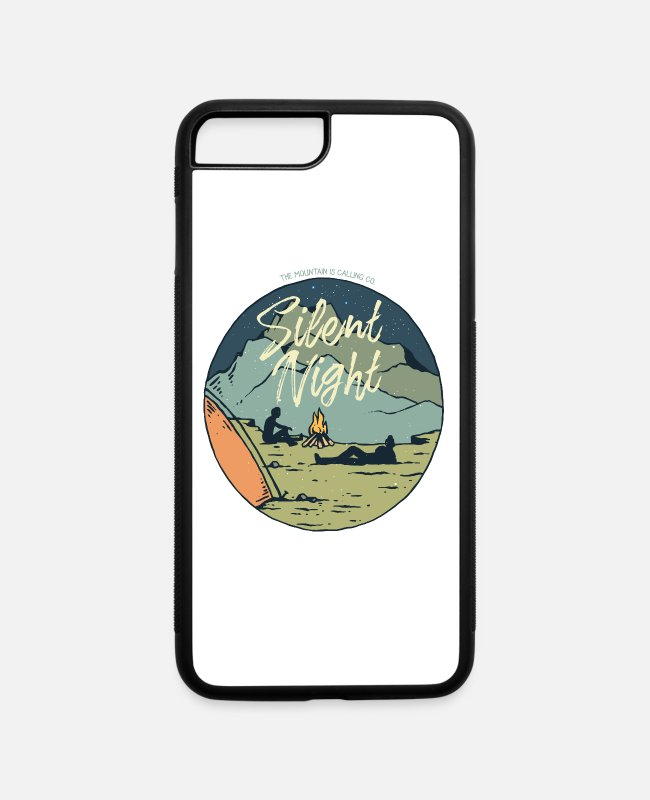 Camper iPhone Cases - Camping Silent Night - iPhone 7 & 8 Plus Case white/black