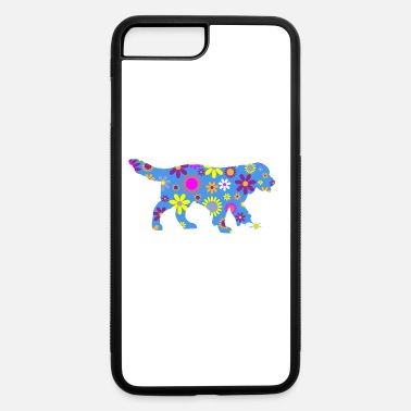 Golden Retrievers Make Me Happy Cute Floral Gift - iPhone 7 & 8 Plus Case