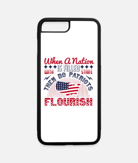 Endless iPhone Cases - Patriot Patriots Flourish With Strife - iPhone 7 & 8 Plus Case white/black