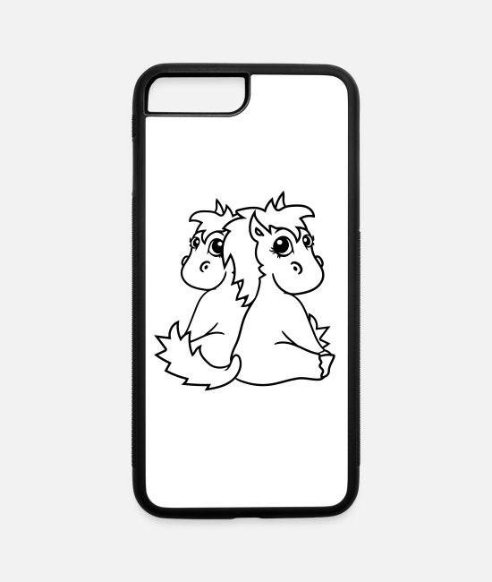Riding iPhone Cases - siblings twins brothers sisters couple couple in l - iPhone 7 & 8 Plus Case white/black