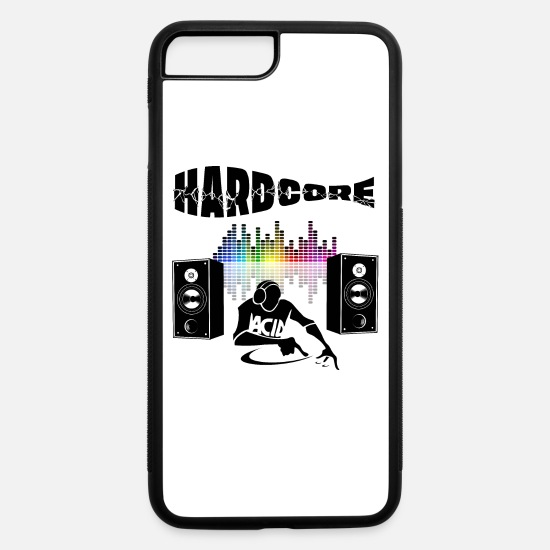 Techno iPhone Cases - hardcore dj - iPhone 7 & 8 Plus Case white/black