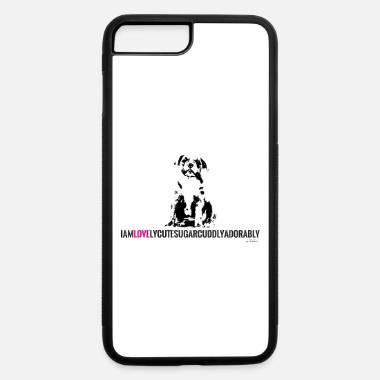 Love iPhone Cases - FRENCH BULLDOG - PUPPY - LOVE - iPhone 7 & 8 Plus Case white/black