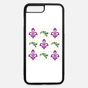 Fleur-de-lis-flower Fleur De Lis in Purple Pattern - iPhone 7 & 8 Plus Case