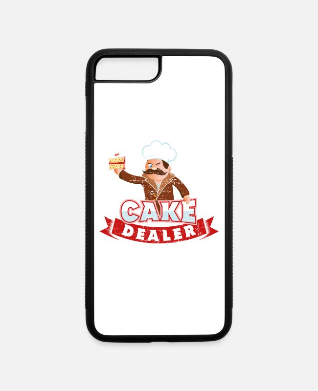 Oven iPhone Cases - Cake Dealer Funny Baking Pun Kitchen Humour Gift - iPhone 7 & 8 Plus Case white/black