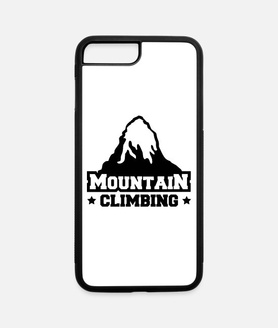 Mountains iPhone Cases - mountain climbing - iPhone 7 & 8 Plus Case white/black