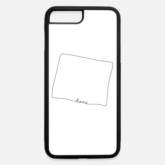 Homesickness iPhone Cases - WYOMING Home - iPhone 7 & 8 Plus Case white/black