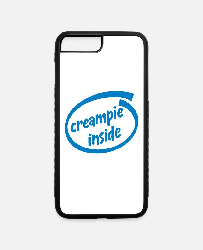 Creampie iPhone Cases - Creampie inside - iPhone 7 & 8 Plus Case white/black