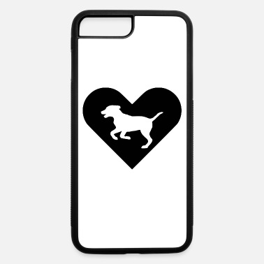 Heart-Dog (black) - iPhone 7 & 8 Plus Case