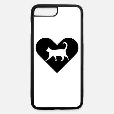 Heart-Cat (black) - iPhone 7 & 8 Plus Case