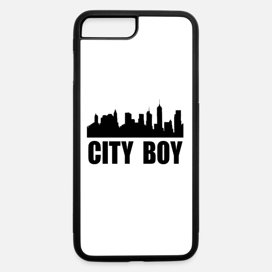 Christmas Present iPhone Cases - CITY BOY / FOR BOYS, MEN AND KIDS - iPhone 7 & 8 Plus Case white/black