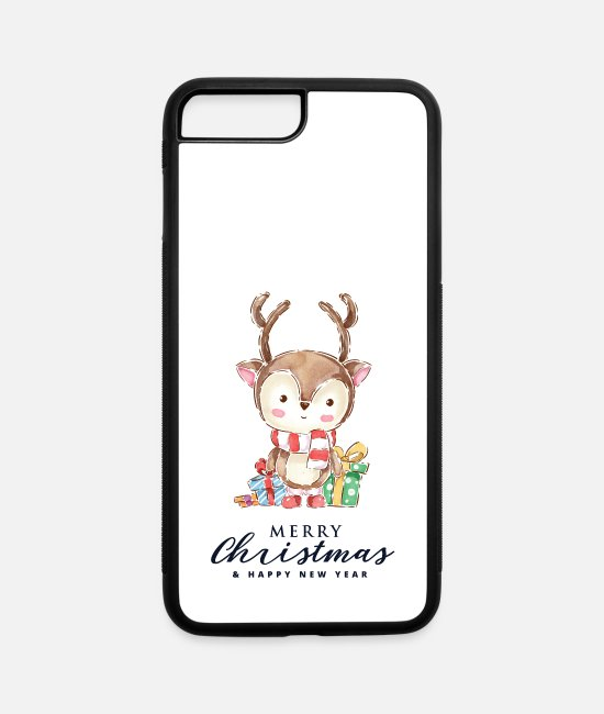 Merry Christmas My Deer iPhone Cases - Merry Christmas my Deer - iPhone 7 & 8 Plus Case white/black