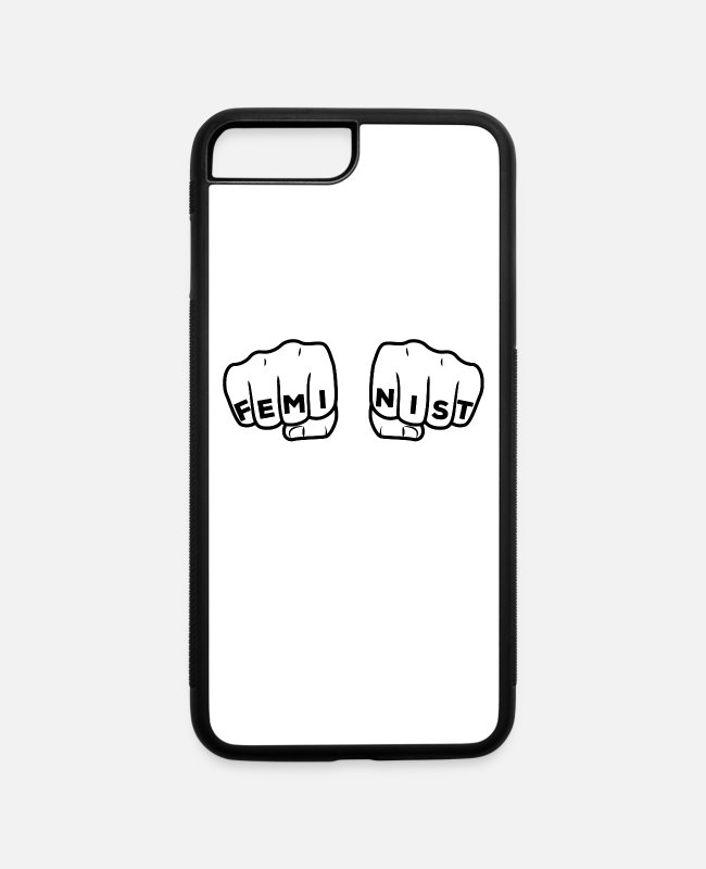 Punch iPhone Cases - Feminist Punch - iPhone 7 & 8 Plus Case white/black