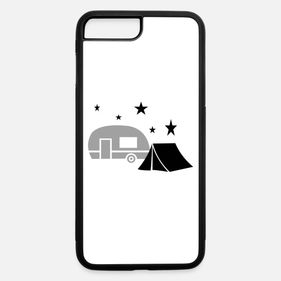 Camping iPhone Cases - camping - iPhone 7 & 8 Plus Case white/black