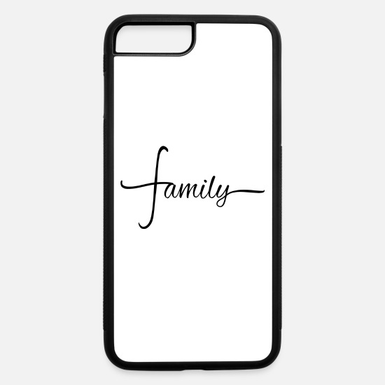 Family iPhone Cases - family - iPhone 7 & 8 Plus Case white/black